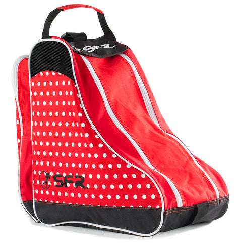 SFR Designer Ice & Skate Bag - Red Polka