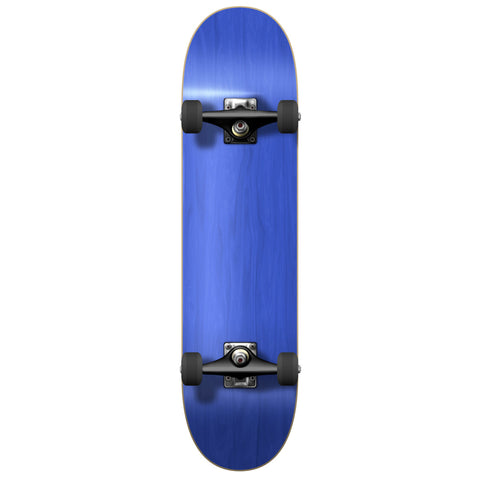 "Yocaher Blank 7.75"" Skateboard Complete - Blue"