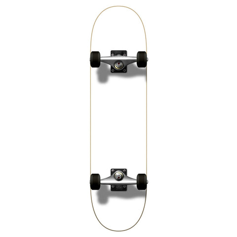 "Yocaher 7.75"" Painted White Skateboard Complete"