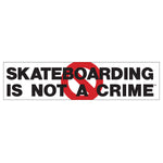 Anti Sticker Black/Red 10 in x 2.25 in