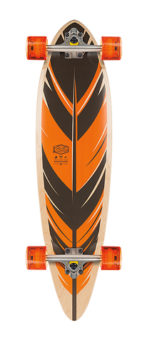 "Stella 38"" Feather Bluntnose Longboard Complete - Orange"