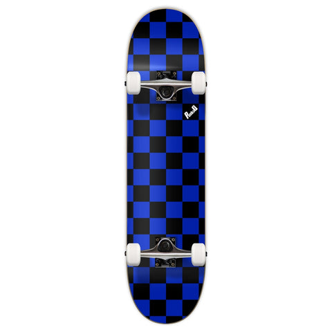 Yocaher Checker Skateboard Complete - Blue 7.75""