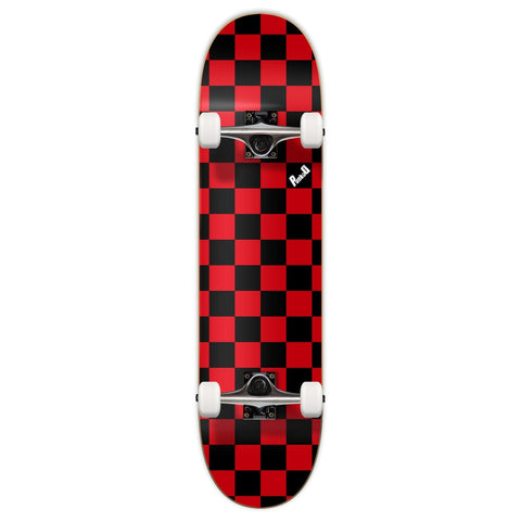 Yocaher Checker Skateboard Complete - Red 7.75""