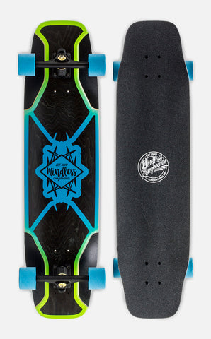 "Mindless 38"" Core Freeride Longboard Complete - Blue Black - LocoSonix"