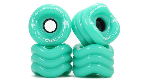 Shark Wheel DNA Formula 72 MM, 78A Wheels - Turquoise (set of 4) - LocoSonix