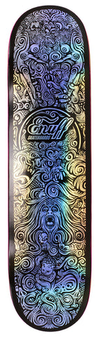 "Enuff 8"" All At Sea Skateboard DECK ONLY - Black/Silver"