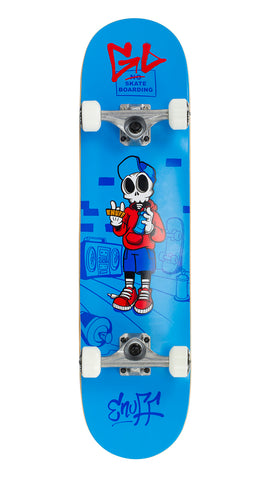 "Enuff 7.75"" Skully Skateboard Complete - Blue - LocoSonix"