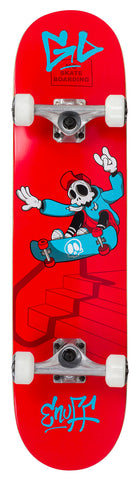 "Enuff 7.75"" Skully Skateboard Complete - Red - LocoSonix"