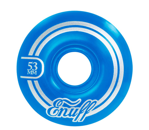 Enuff 53MM Refresher II Skateboard Wheels - Blue - LocoSonix