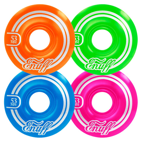 Enuff 53MM Refresher II Wheels - Disco [set of 4] - LocoSonix