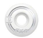 Enuff 50MM Refresher II Skateboard Wheels - White - LocoSonix