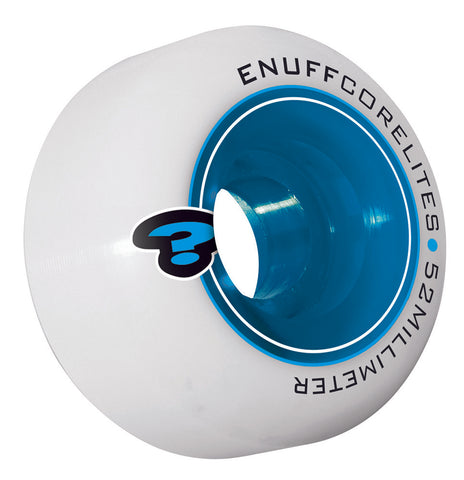 Enuff 52MM Corelites Skateboard Wheels - White/Blue