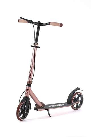 Frenzy 205mm Dual Brake Plus Recreational Scooter - Rose Gold - LocoSonix