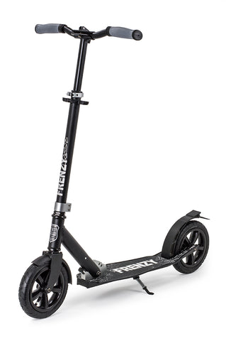 Frenzy 205mm Pneumatic Plus Recreational Scooter - Black - LocoSonix