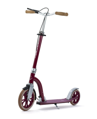 Frenzy DUAL BRAKE Push Scooter - Burgundy 230mm