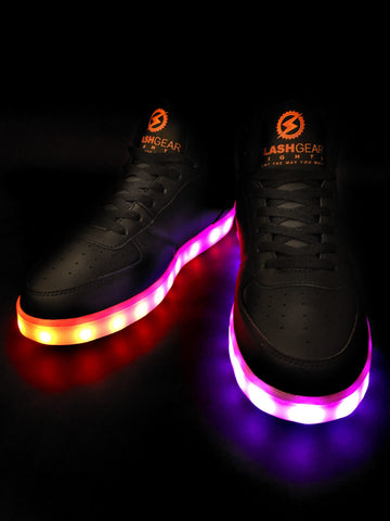 FlashGear Game Changer High Top LED Shoes - Black