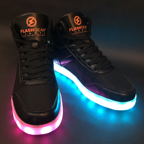 FlashGear Street Hiker LED Shoes - Black