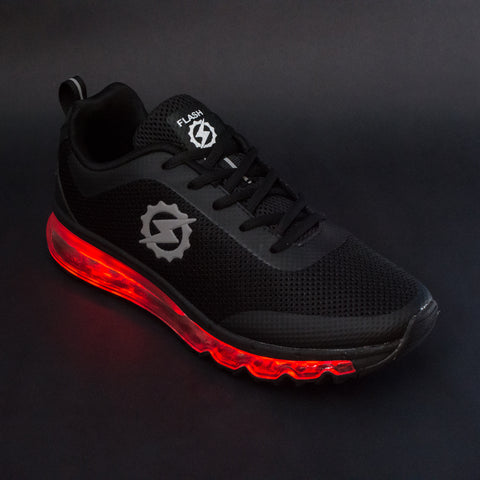 FlashGear Illuminator LED Shoes - Bomb Black