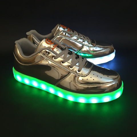 FlashGear Game Changer Low Top LED Shoes - Silver