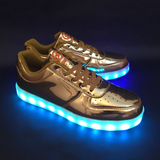 FlashGear Game Changer Low Top LED Shoes - Gold