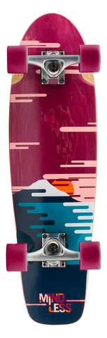 "Mindless 28"" Sunset Cruiser Longboard Complete - Burgundy"