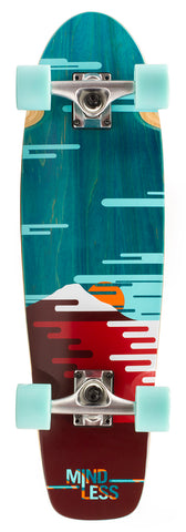 "Mindless 28"" Sunset Cruiser Longboard Complete - Green - LocoSonix"