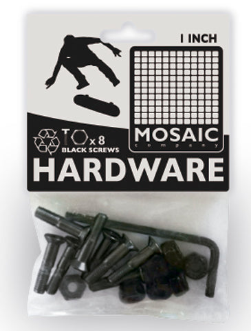 "Mosaic 1"" Allen Bolts & Nuts - Black [pack of 8] - LocoSonix"