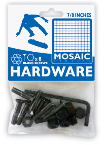 "Mosaic 7/8"" Allen Bolts & Nuts - Black [pack of 8]"