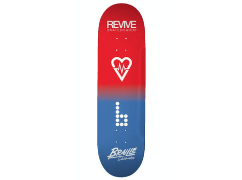 Revive X Braille Collab Skateboard Deck