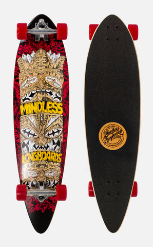 "Mindless 38"" Tribal Rogue IV Longboard Complete - Red - LocoSonix"