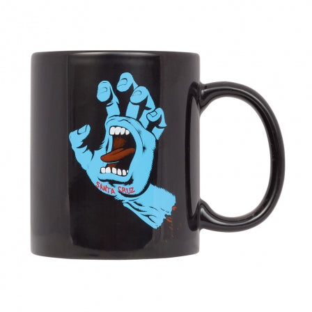Santa Cruz SCREAMING HAND Mug - Black 11 oz