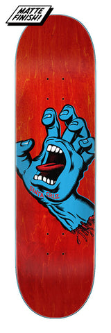 "Santa Cruz Screaming Hand Skateboard Deck 8"" - Red"
