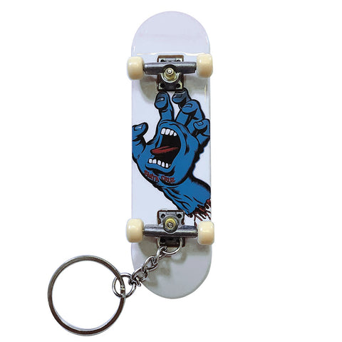 Santa Cruz SCREAMING HAND FINGERBOARD Keychain - White
