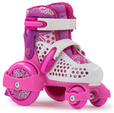SFR Stomper Adjustable Childrens Skates - Pink - LocoSonix