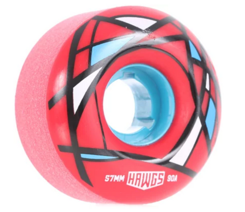 Hawgs 57mm Cordova Wheels - 90A Red - LocoSonix