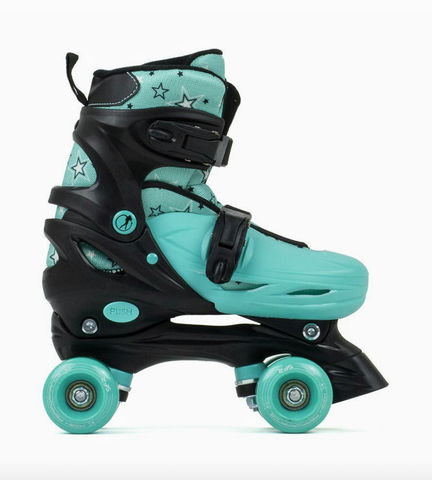 SFR NEBULA ADJUSTABLE QUAD SKATES  - black/green