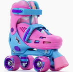 SFR Hurricane III Adjustable Kids Roller Skates - pink/blue