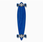 "Yocaher 40"" Blank Pintail Longboard Complete - Stained Blue"