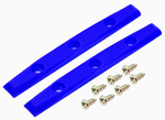 Teak GEM EDITION BOARD RAILS (SCREWS INCLUDED) - blue