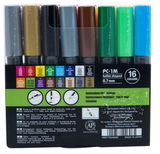 Uni POSCA PC-1M Paint Marker Set 0.7mm [16C]