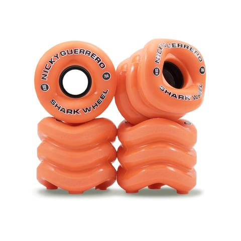 "Shark Wheel California Roll 60 MM, 78A - Orange ""Nicky Guerrero Signature Wheel"" (set of 4) - LocoSonix"