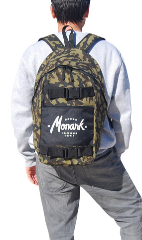 Monark Skateboard Backpack - Camo