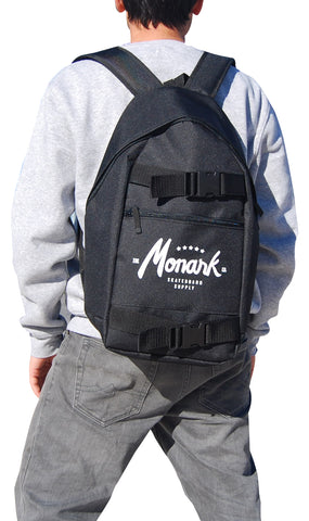 Monark Skateboard Backpack - Black