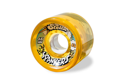Stella - Spankers 65MM 83A Wheels - Gel Amber 83A [set of 4]