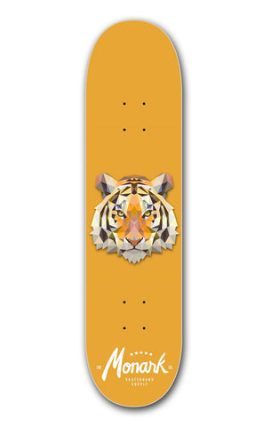 "Monark 8.25"" Skateboard DECK ONLY w/ Griptape - Tiger"