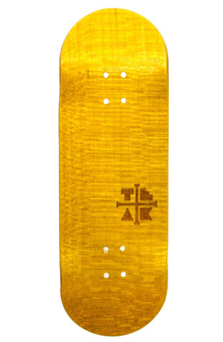 Teak PROlific ENGRAVED 32MM Fingerboard Deck - BANANA YELLOW