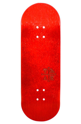 Teak Fingerboard Deck - PROlific Cherry Red [Engraved] - LocoSonix