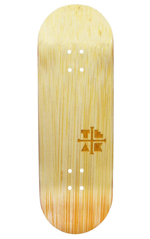 Teak PROlific ENGRAVED 32MM Fingerboard Deck - BAMBOO SAMURAI