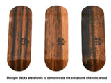 Teak PROlific ENGRAVED 32MM Fingerboard Deck - THE TWO TONE EBONY