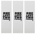 Teak Fingerboard Grip - One Love, Two Fingers [3-pack] - LocoSonix